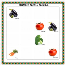 Dokubul Sudoku Oyunu-Sebzeler